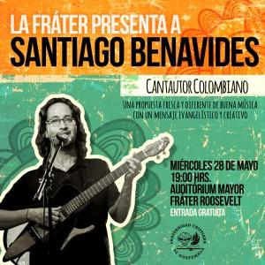 Santiago Benavides en La Fráter